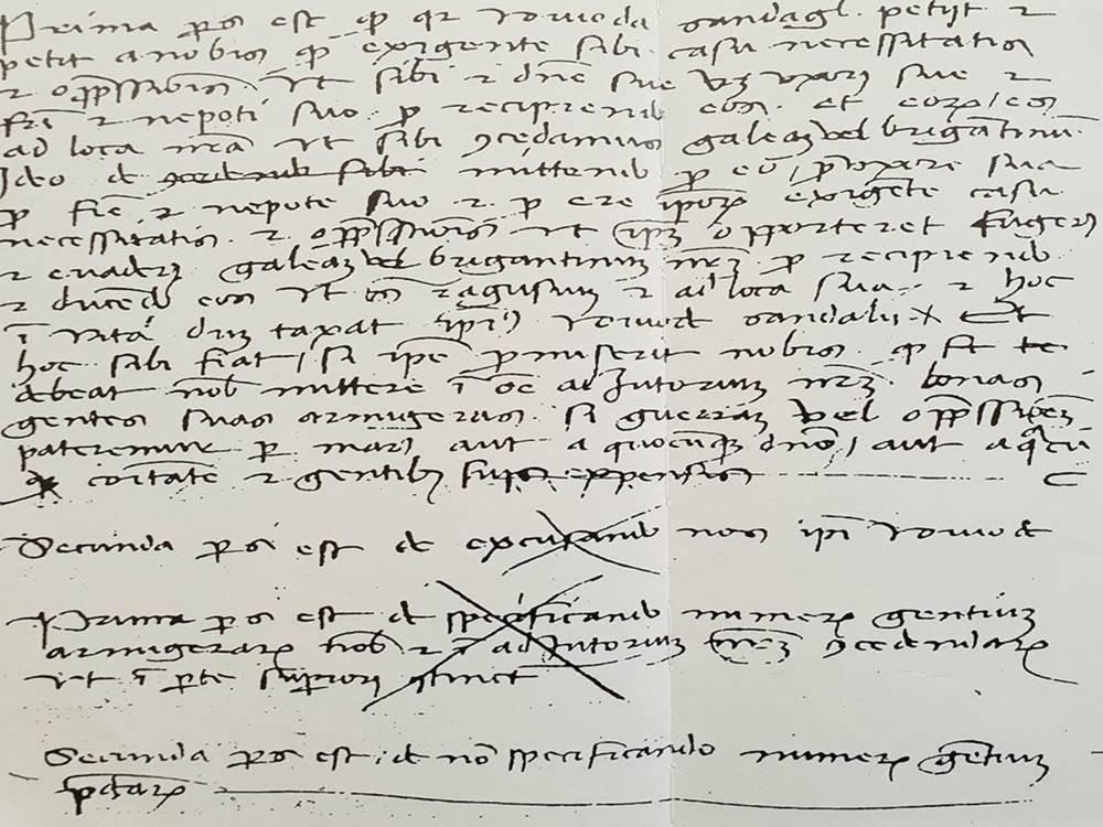 Drugi pisani povijesni dokument iz 1426. godine gdje se spominje pristanište (luka) Ploče.