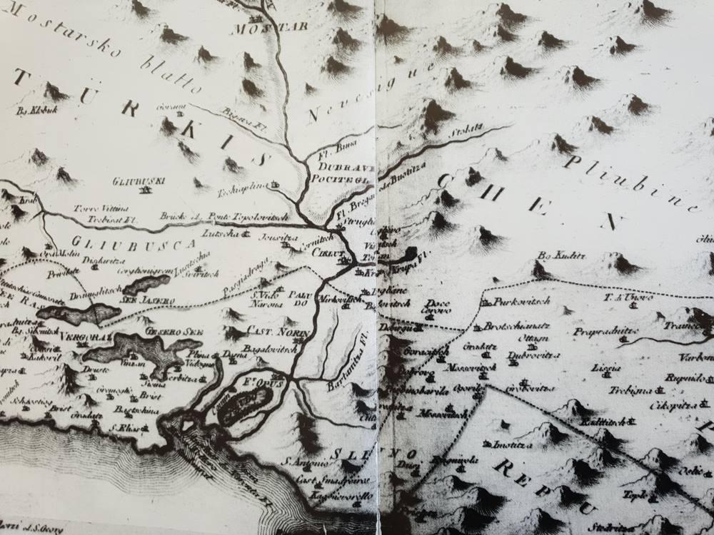Neretvanski kraj s ušćem rijeke Neretve iz vremena fra Luke Vladimirovića (1718. – 1788.).